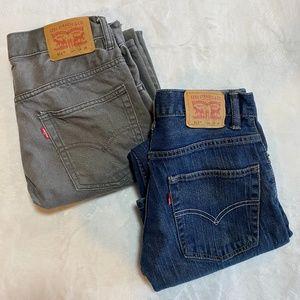 Levi's 511 Slim Kids Jeans 2 pairs 16R